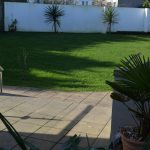 Large rear lawn